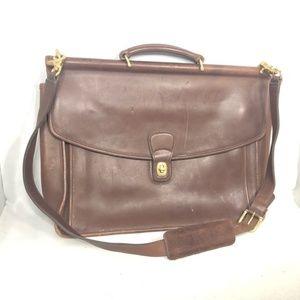 Coach Beekman briefcase vintage leather brown